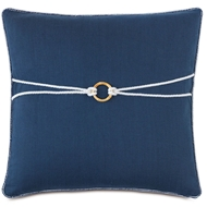 Eastern Accents Bamboo Knot Pillows in Greer Linen 87% Cotton, 13% Rayon