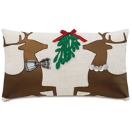 Eastern Accents Dancer And Prancer Pillows in Ledger White 95% Polyester, 5% Linen