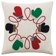 Eastern Accents Mitten Mixer Pillows in Ledger White 95% Polyester, 5% Linen