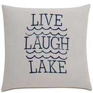 Eastern Accents Live Laugh Lake Pillows