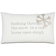 Eastern Accents One Horse Sleigh Pillows in Avox Charcoal 100% Cotton