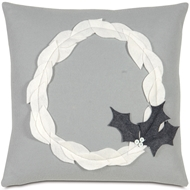 Eastern Accents First Noel Pillows in Avox Charcoal 100% Cotton