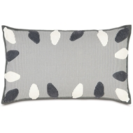 Eastern Accents Bright & Merry Pillows in Avox Charcoal 100% Cotton