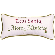 Eastern Accents Less Santa, More Mistletoe Pillows