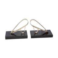 Global Views Abstract Bird Bookends - Brass 9.92984