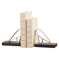 Global Views Abstract Bird Bookends - Nickel 9.92985