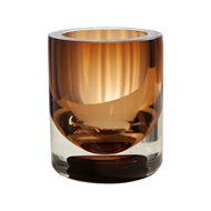 Global Views Amber Tobacco Thick Cylinder Glass Vase 6.6043