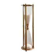 Global Views Antique Brass Decorative Hour Glass 9.92506