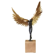 Global Views Avian Man Sculpture - Iron & Bronze 8.82469