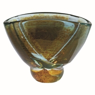 Global Views Blue Pond Decorative Glass Bowl - Oval 6.60100