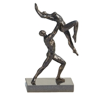 Global Views Dancers Iron Sculpture - Two Arm Lift 8.82451