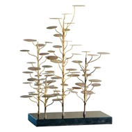 Global Views Eucalyptus Tree Sculpture - Golden Brass 9.91371
