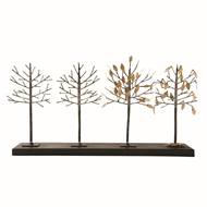 Global Views Four Seasons Tree Sculpture - Iron & Gold 8.81249