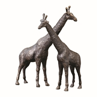 Global Views Giraffe Duo Iron Sculpture 8.81689