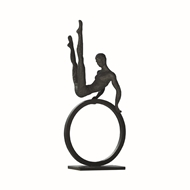 Global Views Gymnast Man Iron Sculpture 8.80333