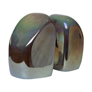 Global Views Iridescent Glass Chunk Bookends - Iris Gelp 6.60430