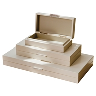 Global Views Ivory Luxe Organizer Box BB-B221-