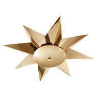 Global Views Klismos Ceiling Mount Light Fixture - Brass 9.92692