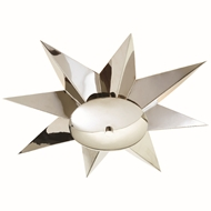 Global Views Klismos Ceiling Mount Light Fixture - Nickel 9.92712