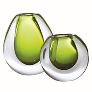 Global Views Limeade Ice Glass Vase 6.6019