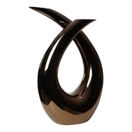Global Views Loop Ceramic Sculpture - Bronze