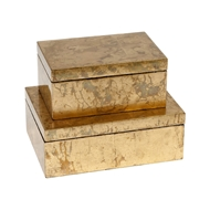 Global Views Luxe Gold Leaf Decorative Box 7.2004