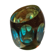 Global Views Molten Jewel Glass Vase - Aqua 6.60137