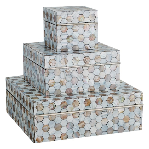 Global Views Mother of Pearl Decorative Box 2