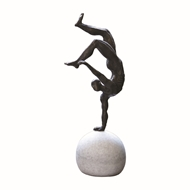 Global Views One Hand Balancing Act Iron Sculpture 8.81676
