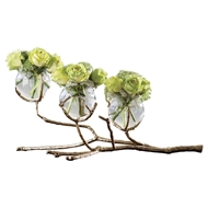 Global Views Twig 3 Vase Holder - Brass 9.92654