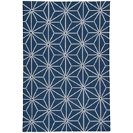 Jaipur Haige Rug From Catalina Collection CAT50 - Navy/White