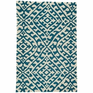 Jaipur Keene Rug From Catalina Collection CAT54 - Cream/Teal