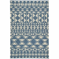 Jaipur Botella Rug From Catalina Collection CAT55 - Blue/Cream