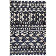 Jaipur Botella Rug From Catalina Collection CAT56 - Navy/Cream