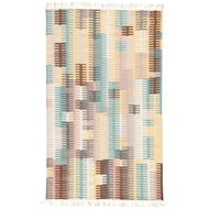 Jaipur Carver Rug From Desert Collection DES20 - Turquoise/Yellow