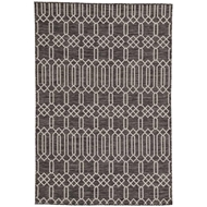 Jaipur Calcutta Rug From Decora by Nikki Chu Collection DNC02 - Dark Gray/Silver