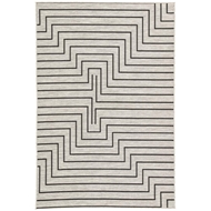 Jaipur Xantho Rug From Decora by Nikki Chu Collection DNC03 - Silver/Black