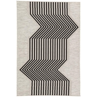 Jaipur Minya Rug From Decora by Nikki Chu Collection DNC04 - Silver/Black