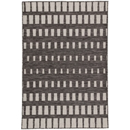 Jaipur Vaise Rug From Decora by Nikki Chu Collection DNC05 - Dark Gray/Silver