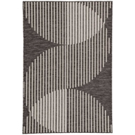 Jaipur Tangra Rug From Decora by Nikki Chu Collection DNC06 - Dark Gray/Silver