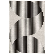 Jaipur Tangra Rug From Decora by Nikki Chu Collection DNC07 - Silver/Black