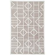 Jaipur Cannon Rug From Fables Collection FB154 - Gray/White
