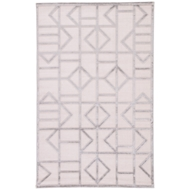 Jaipur Cannon Rug From Fables Collection FB155 - White/Silver