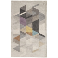 Jaipur Apex Rug From Genesis Collection GES01 - Light Gray/Multicolor