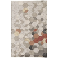 Jaipur Combs Rug From Genesis Collection GES03 - Light Gray/Orange