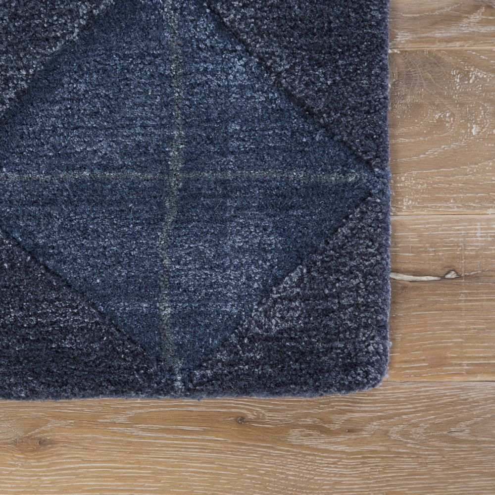 Corner View - Jaipur Jace Rug From Genesis Collection GES04 - Dark Blue