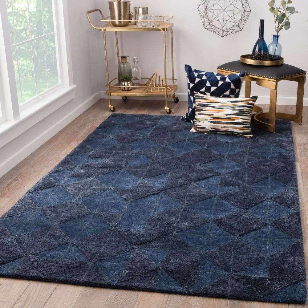 Room View - Jaipur Jace Rug From Genesis Collection GES04 - Dark Blue