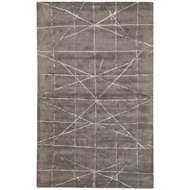 Jaipur Duval Rug From Genesis Collection GES13 - Dark Gray/Silver