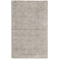 Jaipur Banister Rug From Genesis Collection GES14 - Taupe/Silver