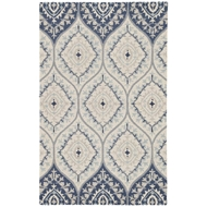 Jaipur Druid Rug From Hacienda Collection HAC15 - Blue/Cream